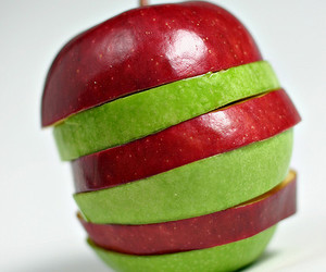apple, cut, and fruit image