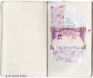 diary, floral, and lace image
