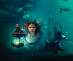 ethereal, underwater, and girl image