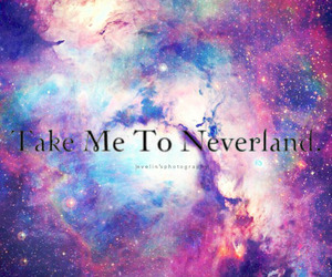 galaxy, clouds, and neverland image