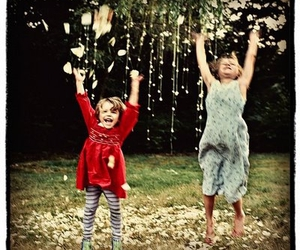 children, happiness, and tree image