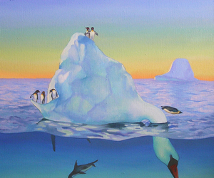 art, icebergs, and paintings image