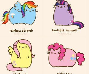 pusheen, cat, and my little pony image