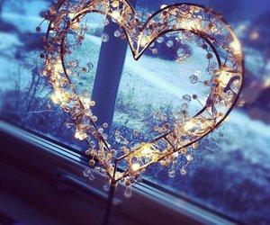christmas, cozy, and heart image