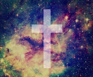 galaxy and cross image