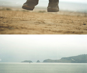 beach, freedom, and boots image