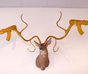 awesome, guns, and deer image