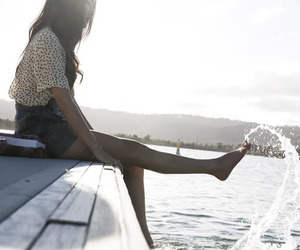 girl, water, and summer image