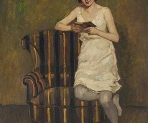 art, chair, and painting image