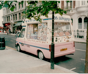vintage, ice cream, and pink image
