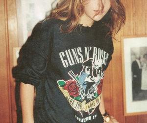 girl, Guns N Roses, and grunge image