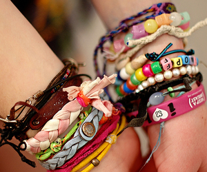 bracelets, pink, and cute image