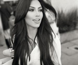 kim kardashian, kim, and black and white image