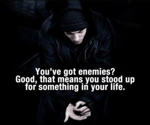 enemy, eminem, and quote image