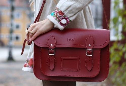 bag, burgundy, and style image