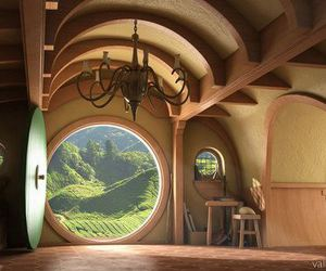 hobbit, house, and hobbit house image