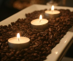 candle, coffee, and light image
