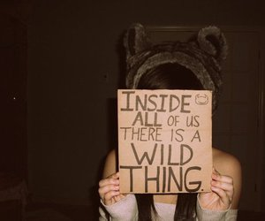 wild, girl, and text image