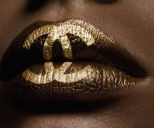 chanel, lips, and gold image