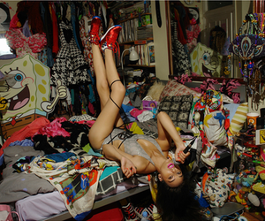 girl, room, and mess image