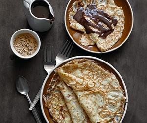 chocolate, food, and pancakes image