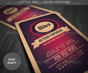 business card, vintage card, and creative logo image