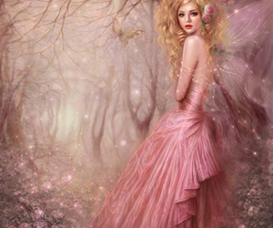 pink, fairy, and art image