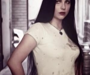 amy lee, black hair, and old picture image