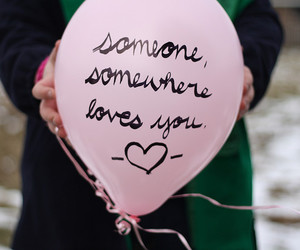 love, balloons, and pink image