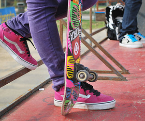 skate, pink, and shoes image