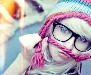 girl, glasses, and blonde image