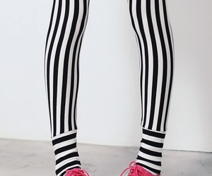 stripes, pink, and shoes image