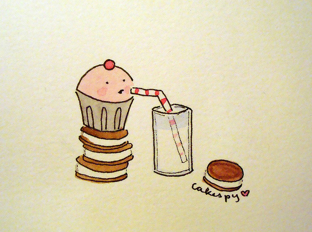 cakespy, Cookies, and milk and cookies image