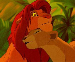 simba, disney, and lion image