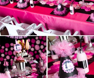 black, decor, and party image
