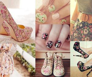 flowers, shoes, and nails image