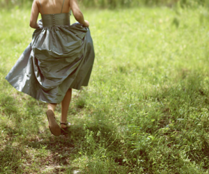 dress, grass, and robe image