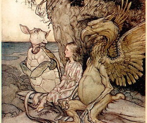 alice in wonderland, arthur rackham, and illustration image