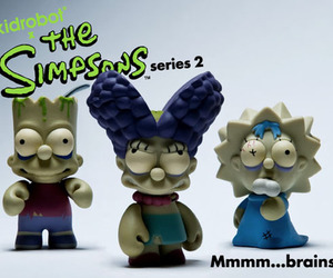 the simpsons, zombie, and toy art image