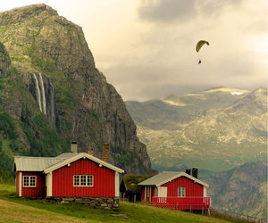 norway, house, and landscape image