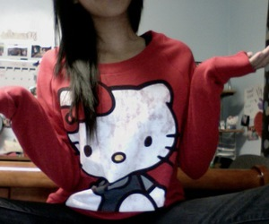 hello kitty, cute, and red image
