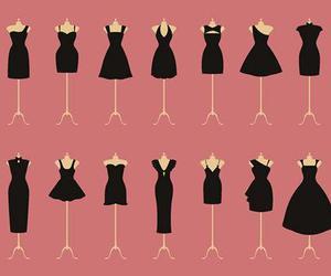 dress, black, and little black dress image