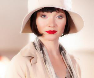 vintage, red listick, and miss fisher image