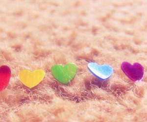 colorful and hearts image