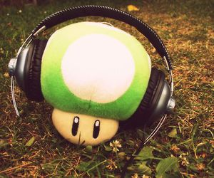 grass, mario, and music image