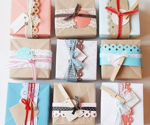 diy, gift wrapping, and wrapping image