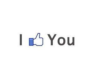 facebook, like, and text image
