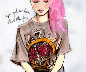 art, color, and hair image