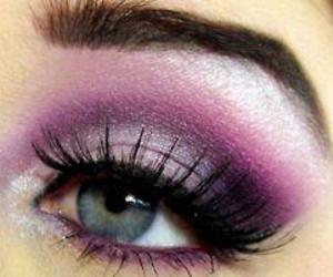 makeup, make up, and purple image
