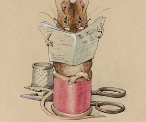 mouse, illustration, and beatrix potter image